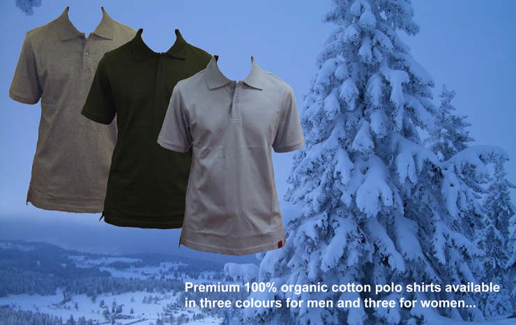 Huk Apparel's 100% organic cotton premium polo shirts...