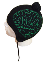 Unisex Beannie - Lobotomy Design - Dark Green